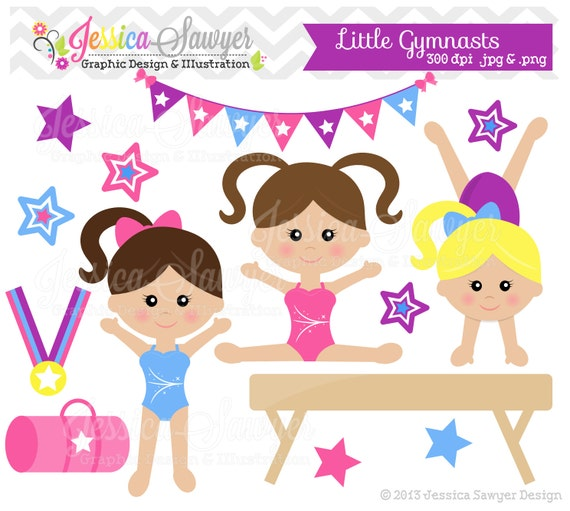INSTANT DOWNLOAD Little Tumblers Clip Art Or Girls