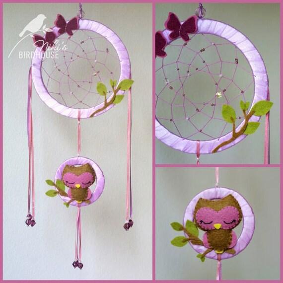 Items Similar To Owl Dreamcatcher For Kids Room Decor