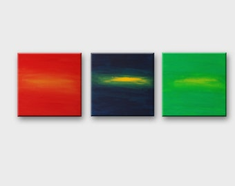 Triptych abstract art Large wall art Large sets Canvas set of 3 Quadri astratti Wall art sets Original art Contemporary art Acrylic painting