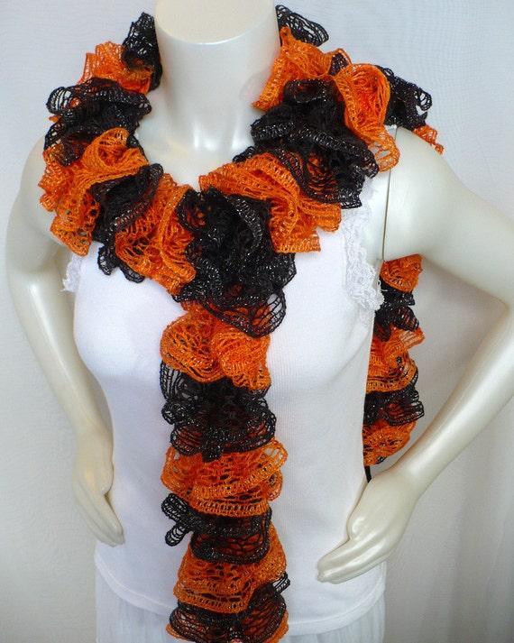 orange and black ruffle scarf sf giants fan by
