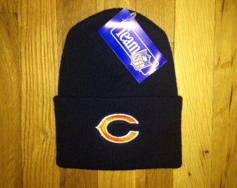 vintage chicago bears beanie adult OSFA deadstock NWT 90s made in USA