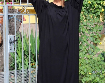Black Maxi dress, Off shoulder dress, Caftan, Plus size dress, Plus size clothing, Abaya, Summer dress, Party dress