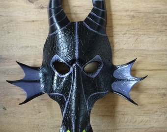 Maleficent the Dragon leather mask - Made to Order