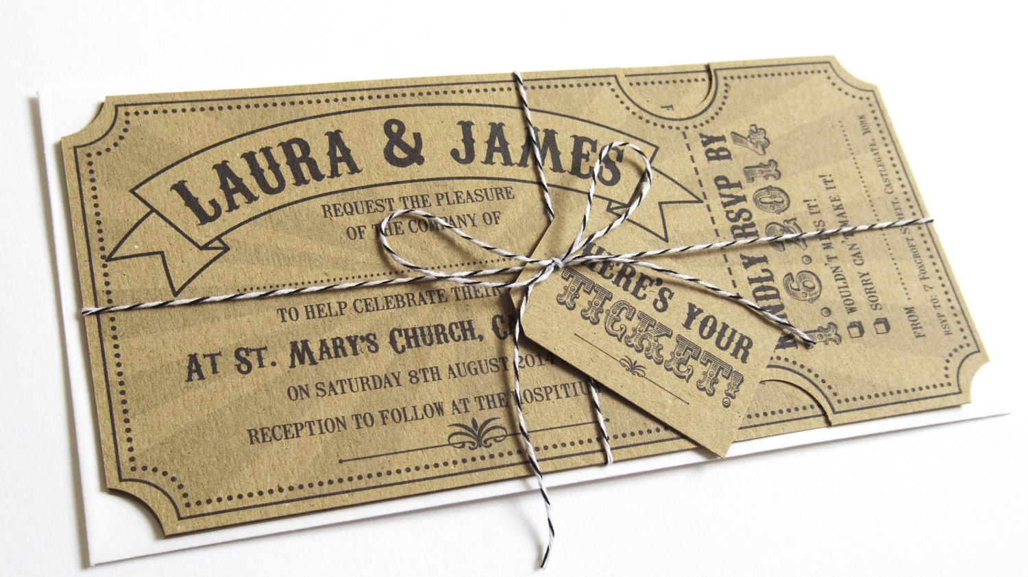 Wedding Invitation Tickets: Circus Ticket Wedding Invitation Fun Fair Carnival