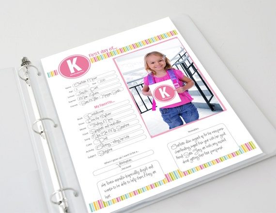 First Day of School Memories Scrapbook Pages, Photo Cards & Book Cover