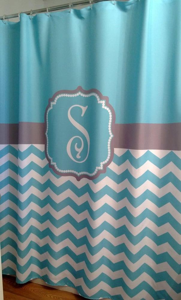 Shower Curtain Chevron Fabric You Choose Colors 70 74 78