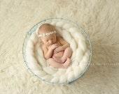 Ivory Baby Headband, Headband, baby girl headband,Newborn Headband, shabby chic flower headband, christening headband,baptism headband.