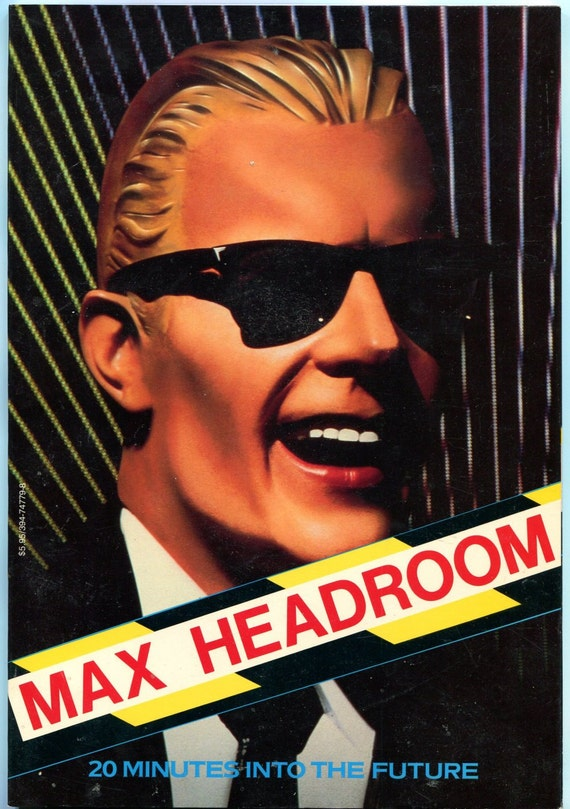 Max Headroom Book TV memorabilia Edison Carter by ...