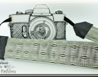 Camera strap, camerastrap, DSLR, retro gray