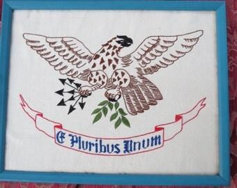 E Pluribus Unum Eagle Needlepoint