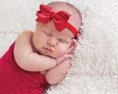 Christmas Headband, Baby Headband, Red Bow Headband,Baptism Headband,Preemie, Newborn Headband,Infant,Child, Baby Hair Bows, hair bows , bow