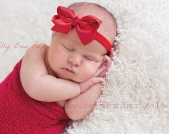 Christmas Headband, Baby Headband, Baby Headband, headbands,Red Bow Headband,Baptism Headband,Preemie,Newborn Headband,Infant,Child,Hair Bow