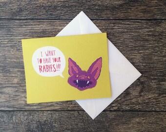 Rabies Bat Greeting Card