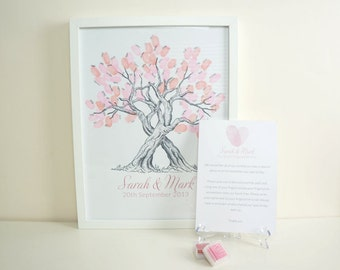 Custom Fingerprint Tree Guest Book for Weddings