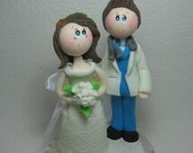 Custom wedding cake topper, doctor cake topper, physician cake topper
