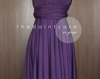 Grape Bridesmaid Dress Convertible Dress Infinity Dress Multiway Dress Wrap Dress Wedding Dress Maid of Honor Prom Dress Cocktail Dress