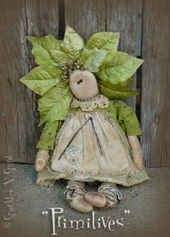 """Pattern: Gwenyth - 17"""" Flower Prim Rag Doll"""