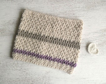 Crochet cowl winter women's accessories