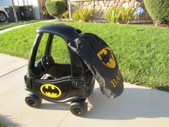 batman or batgirl cozy coupe kit vinyl sticker and by lovealybug. Black Bedroom Furniture Sets. Home Design Ideas