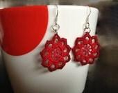 Crochet mandala earring