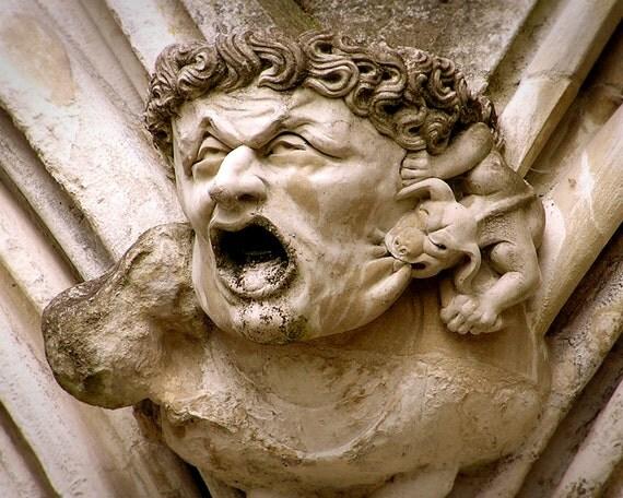Gargoyle Photo Art Salisbury Cathedral Gothic Sculpture