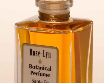 ROSE LYN Botanical Perfume  Natural exquisite melange of four Rose's Jasmine, Orange flower, ylang created by Santa Fe Botanical Fragrances