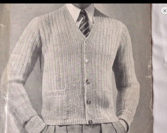 Vintage style hand knitted cashmere cardigan