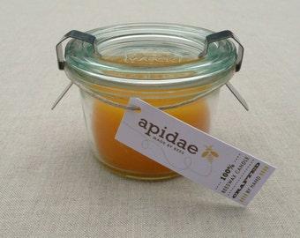 Bienenwachskerze in 80 ml Weck Einmachglas