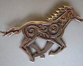Celtic Horse Brooch or Pendant in Bronze
