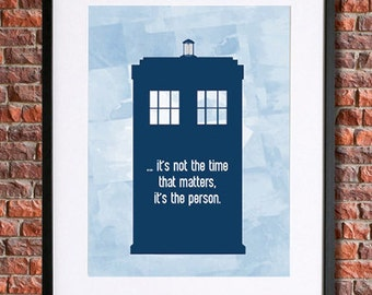 Doctor Who Poster Tardis Poster | Instant Download Printable Art, 10th Doctor, David Tennant, Dr Who, Doctor Who Print, The Doctor Who Quote