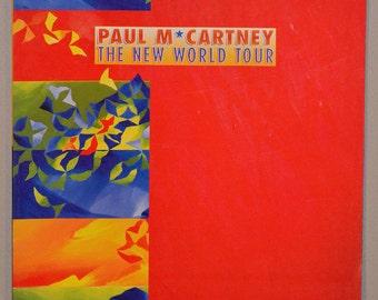 Paul McCartney The New World Tour, 1993, 100 pages, Linda McCartney, concert program
