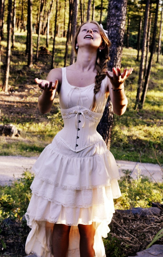 Items similar to vintage style victorian wedding dress for Victorian corset wedding dresses