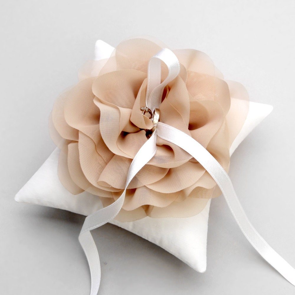 Taupe Ring Pillow Wedding Ring Pillow Bridal Ring Bearer