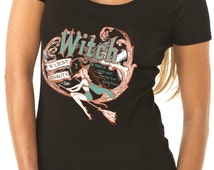 halloween shirt - halloween t shirt - witch shirt - witch t shirt - womens tshirts - halloween gifts - FIRST QUALITY WITCH - scoop neck