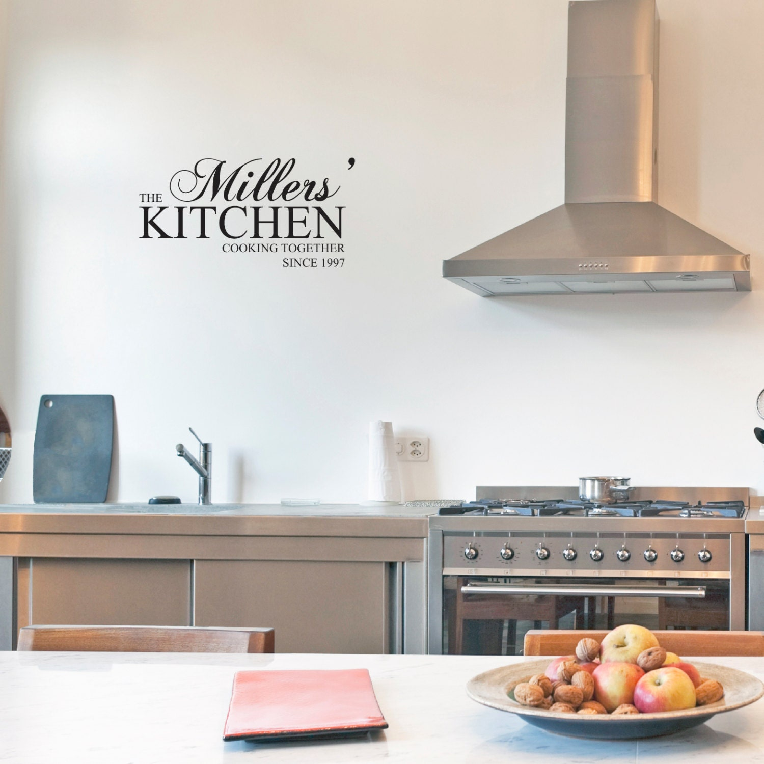 Vinyl Wall Art for Your Kitchen YOUR Last Name KITCHEN