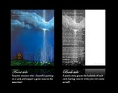 """5 CARDS & Envelopes Set """"Miracles Happen Everywhere"""" Mini Art Card Prints Postcards by Fae Factory Visionary Artist Dr Franky Dolan"""