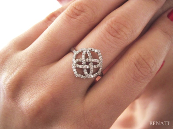 diamond infinity ring diamond engagement ring love knot by