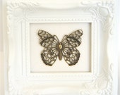 FILIGREE BUTTERFLY, in Antique Gold, Trinity Brass - Qty 1 Filigree Butterfly