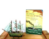 Vintage Nautical Book Call of the Sea Sailing Book Decor Fiction Jan de Hartog