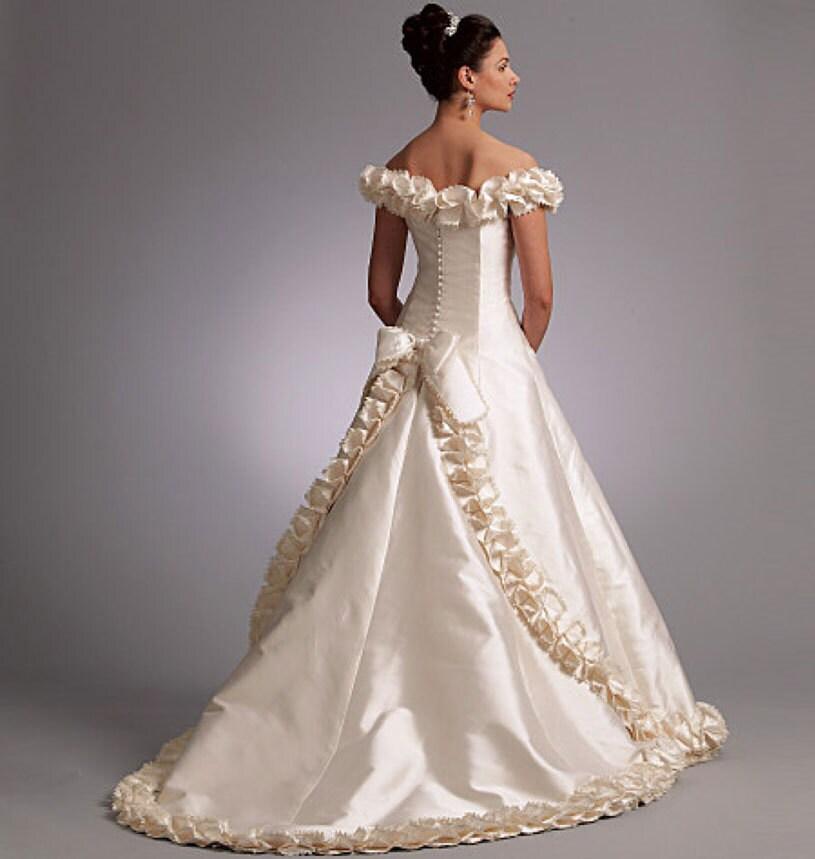 Vogue 1095 Off Shoulder Wedding Dress Pattern Uncut Bellville