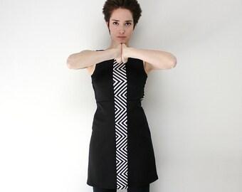 Black dress, Little black dress, Sleeveless dress, 60's mod dress, 1960's Retro dress, Black party dress,