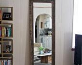 "Floor Mirror - Wardrobe Mirror - Reclaimed Wood Mirror - 24"" x 66"" Large Wall Mirror - Rustic Modern Home - Hurd and Honey"