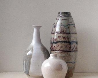 studio pottery small vase, artist signed, bud vase