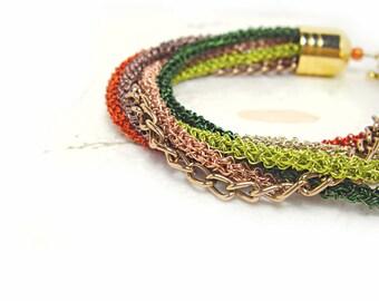 Rainbow Loop Bracelet Wrap Bracelet Wire Crochet Metalwork Stacking Bracelet Woven Braided Bracelets