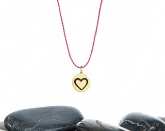 Tiny Heart Necklace, Heart Necklace, Heart Charm, Heart jewelry, love you, love sign, valentine jewelry, JIN247TBR