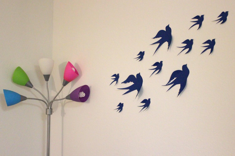 3d Wall Decor Birds : Birds d wall decor art nursery bird by mydreamdecors