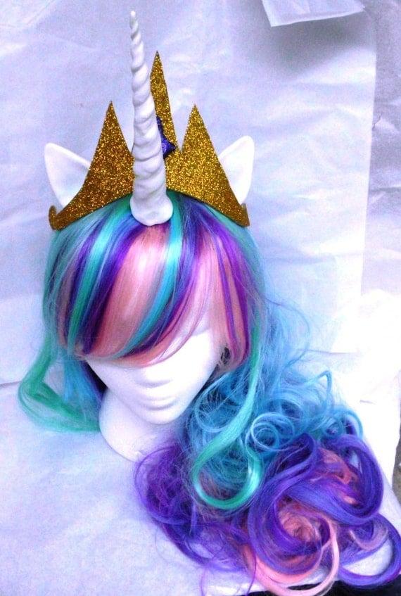Unicorn Wig Unicorn Costume Princess Celestia no crown