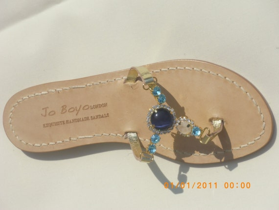 Customised Crystal Capri Sandals