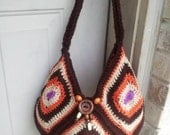 Gorgeous Granny Square fully lined beaded crochet bag pattern