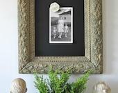 Chalkboard, Magnetic Chalkboard, Memo Board, Antique Gesso Frame, 12 X 14